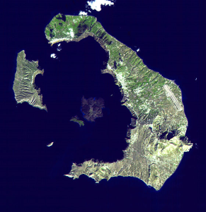 Thira from Space